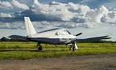 Small private airplane — Stock Photo