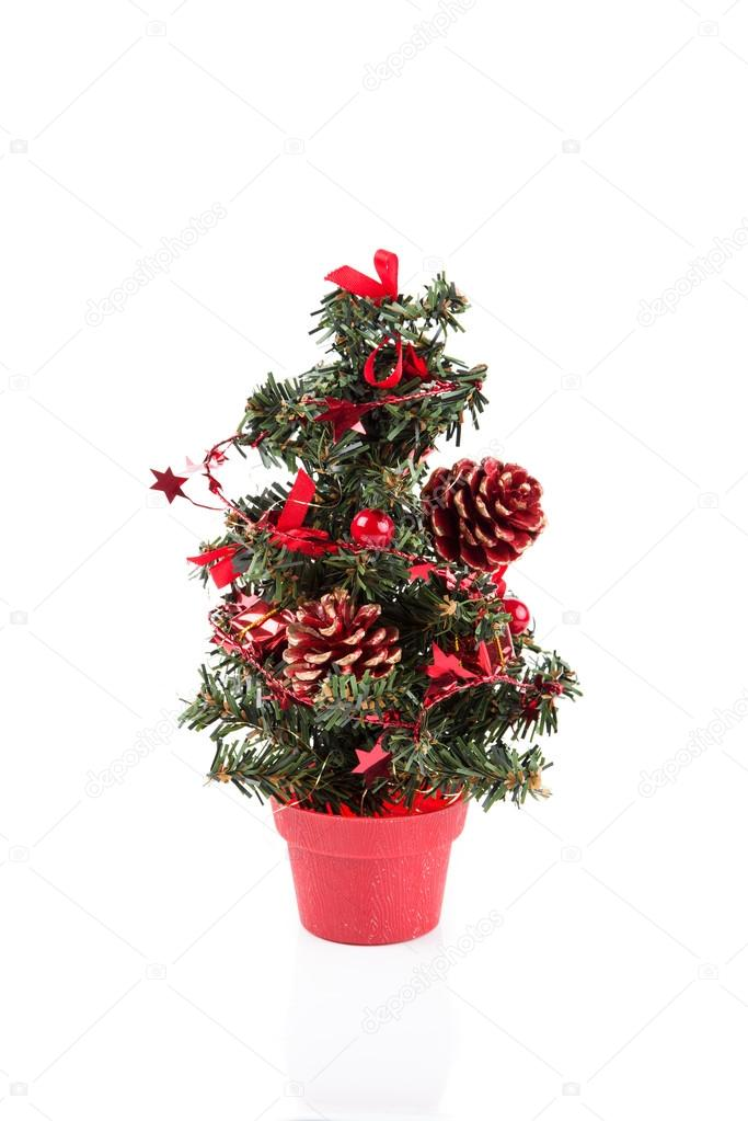 Image of the christmas tree isolated on white  Stock Photo #13892330
