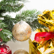 Christmas decorations fragment — Stock Photo