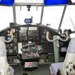 Stock Photo: Old small plane cockpit