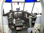 Old small plane cockpit — Stock Photo