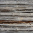 Old wooden blockhouse background - Stock Photo