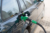 Car fill up fuel at gas station — Stock Photo