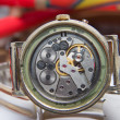 Old watches dusty mechanism selective focus — Stockfoto #26634263