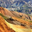 Foto Stock: Landmannalaugar colorful rhyolite mountains detail, Iceland