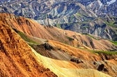 Landmannalaugar colorful rhyolite mountains detail, Iceland — Stockfoto