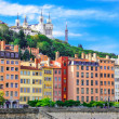 Lyon cityscape from Saone river with colorful houses, France — Stock Photo #12834301