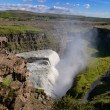 Gullfoss wild waterfall, strong running water, Iceland — Stock Photo