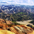Landmannalaugar colorful mountains landscape view, Iceland — Stock Photo #13147690