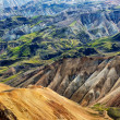 Landmannalaugar colorful mountains landscape view, Iceland — Stock Photo