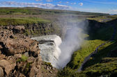 Gullfoss wild waterfall, strong running water, Iceland — Stock Photo