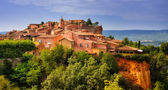 Roussillon village sunset view, Provence, France — Stok fotoğraf