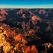 Grand canyon vivid sunset — Stock Photo