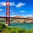 Golden gate brug levendige dag landschap, san francisco — Stockfoto #13186067