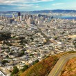 Stock Photo: San Francisco view from twin peaks