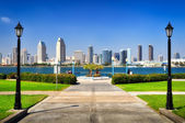 San Diego city view from the park — Stock Photo