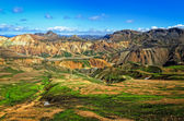 Landmannalaugar colorful mountains landscape, Iceland — Stockfoto