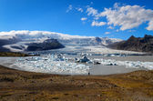 Ice lagoon and iceberg lake day view, Iceland — Stock Photo