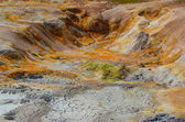 Colorful geothermal area detail, near Myvatn, Iceland — Stock Photo