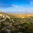 Royalty-Free Stock Photo: Gordes medieval village panorama sunset view