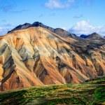 Landmannalaugar colorful mountains landscape view — Stock Photo
