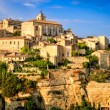 Stock Photo: Gordes medieval village sunset view, France