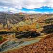 Landmannalaugar colorful mountains landscape view — Stock Photo #14138427