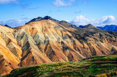 Landmannalaugar colorful mountains landscape view — Foto Stock