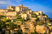 Gordes medieval village sunset view, France — Stock Photo
