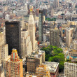 New York Manhattan streets bird view - Stock Photo