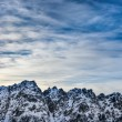 Winter High Tatras mountains landscape with cloudy sky — Stock Photo
