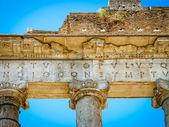 Temple of Saturn detail, Roman Forum, Rome — Stock Photo