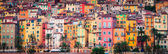 Provence colorful village houses, Menton — Stock Photo