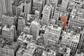New York streets bird's view — Stock Photo