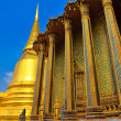 Detail of temple in Grand palace temple in Bangkok — Stock Photo