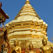 Golden temple Wat phra That in Doi Suthep, Chiang Mai, Thailand — Stock Photo