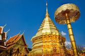 Golden temple Wat phra That in Doi Suthep, Chiang Mai, Thailand — Stock Photo