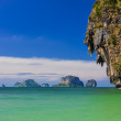 Ocean coast landscape with cliffs and islands at Phra Nang bay — Stock Photo