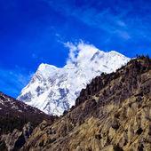 Detail van himalaya sneeuw piek van annapurna iii — Stockfoto