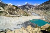 Himalaya montagne et lac, gangapurna, népal — Photo