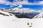 Himálaj hory panoramatický výhled krajiny v oblasti annapurna — Stock fotografie