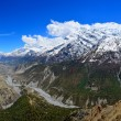 Himalayas mountains river valley panorama in Annapurna range — Stock Photo #26442493
