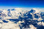 Himálaj everest range pohled z hory letu — Stock fotografie