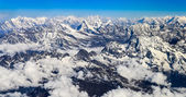 Panorama di himalaya everest montuosa — Foto Stock