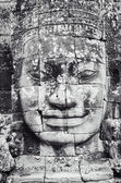 Detail of stone face in the Bayon temple at Angkor Wat — Stock Photo