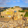 Panoramic view of beautiful village Ragusa in Sicily — Stock Photo
