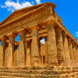 Ruins of ancient temple in Agrigento, Sicily — Stok fotoğraf