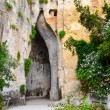 limestone cave called ear of dionysius on sicily — Stock Photo