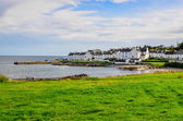 View of harbour and town Port Charlotte on Isle of Islay — Stock Photo