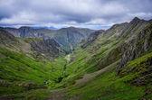 View of mountains in Glen Coe valley, Scotland — Stock Photo